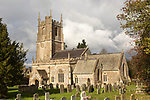 Village parish church of Saint James, Avebury, Wiltshire, England, UK