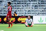 Stockholm 2014-05-04 Fotboll Superettan Hammarby IF - IFK V&auml;rnamo :  <br /> Hammarbys Thomas Guldborg Christensen deppar efter matchen<br /> (Foto: Kenta J&ouml;nsson) Nyckelord:  Superettan Tele2 Arena Hammarby HIF Bajen V&auml;rnamo depp besviken besvikelse sorg ledsen deppig nedst&auml;md uppgiven sad disappointment disappointed dejected