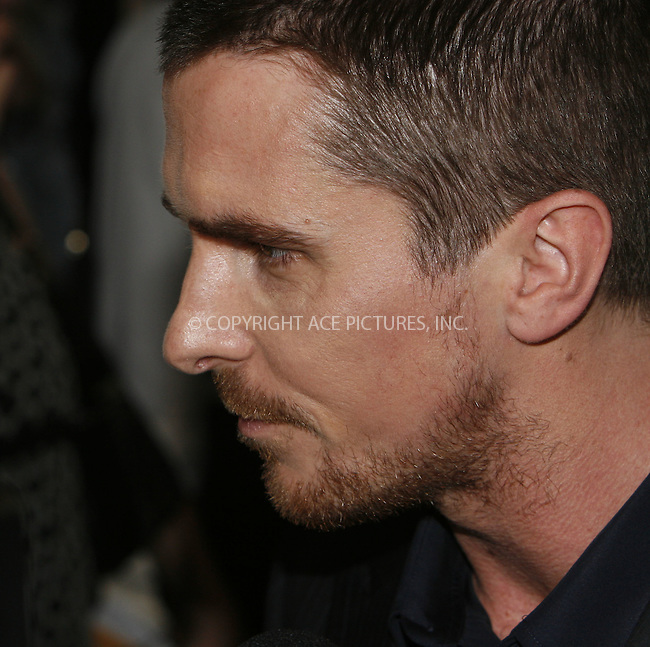 WWW.ACEPIXS.COM . . . . .  ....July 14 2008, New York City....Actor Christian Bale arriving at the world premiere of 'The Dark Knight' at AMC Loews Lincoln Square - IMAX on July 14, 2008 in New York City.....Please byline: NANCY RIVERA- ACE PICTURES.... *** ***..Ace Pictures, Inc:  ..tel: (646) 769 0430..e-mail: info@acepixs.com..web: http://www.acepixs.com