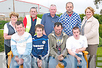 Taking a rest on the seat they made for the Teampall Ban Chapel in Listowel were the trainees at the Kerry Parents and Friends Association in Listowel from left Edward Toomey, Joe Mannix, Owen Carey and Mike McElligott, with back l-r Mary Hanlon (Tidy Towns),  Des Kelly, (FAS CE Project), Mike McElligott (tutor), Liam Brennan (artist) and Noelle O'Connell, (Listowel CE Project Manager).   Copyright Kerry's Eye 2008