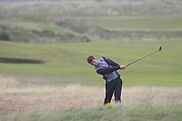 David Hague from England on the 10th during Round 3 Foursomes of the Men's Home Internationals 2018 at Conwy Golf Club, Conwy, Wales on Friday 14th September 2018.<br /> Picture: Thos Caffrey / Golffile<br /> <br /> All photo usage must carry mandatory copyright credit (&copy; Golffile | Thos Caffrey)