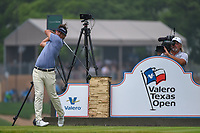 Hank Lebioda (USA) watches his tee shot on 11 during day 3 of the Valero Texas Open, at the TPC San Antonio Oaks Course, San Antonio, Texas, USA. 4/6/2019.<br /> Picture: Golffile | Ken Murray<br /> <br /> <br /> All photo usage must carry mandatory copyright credit (&copy; Golffile | Ken Murray)