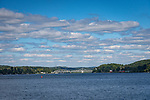 Connecticut River at MYC-from MiddlesexYacht Club, CT. September. Toward East Haddam.