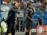 SALVADOR – BRASIL, 15-06-2019: Carlos Queiroz técnico de Colombia gesticula durante partido de la Copa América Brasil 2019, grupo B, entre Argentina y Colombia jugado en el Itaipava Fonte Nova Arena de la ciudad de Salvador, Brasil. / Carlos Queiroz coach of Colombia gestures during the Copa America Brazil 2019 group B match between Argentina and Colombia played at Itaipava Fonte Nova Arena in Salvador, Brazil. Photos: VizzorImage / Julian Medina / Cont / FCF