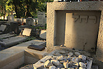 Israel, Sea of Galilee. Grave of Rachel the poet at Kinneret cemetery by the Sea of Galilee