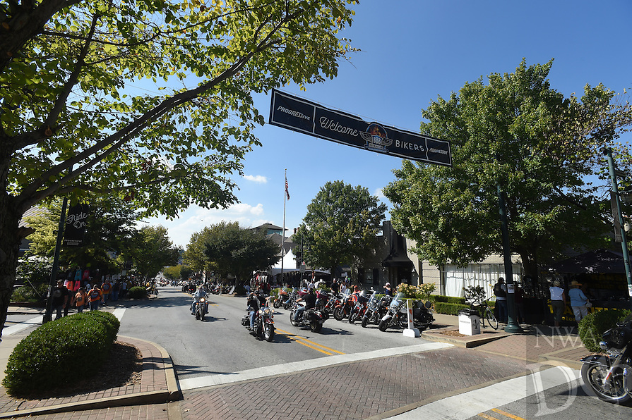 NWA Democrat-Gazette/MICHAEL WOODS &bull; @NWAMICHAELW<br /> The 17th annual Bikes Blues and BBQ motorcycle rally Friday September 23, 2106 in Fayetteville.