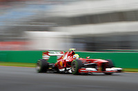 Felipe Massa (BRA) from the Scuderia Ferrari team heads down the main straight in the final qualifying session on day four of the 2013 Formula One Rolex Australian Grand Prix at the Albert Park Circuit in Melbourne, Australia.