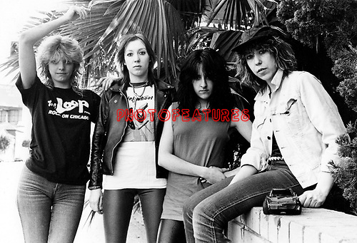 Girlschool 1982.© Chris Walter.