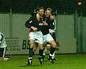 27/11/2004  Copyright Pic : James Stewart.File Name : jspa14_falkirk_v_ross_county.ANDY THOMSON CELEBRATES WITH DANIEL MCBREEN AFTER HE SCORED FALKIRK'S SECOND......Payments to :.James Stewart Photo Agency 19 Carronlea Drive, Falkirk. FK2 8DN      Vat Reg No. 607 6932 25.Office     : +44 (0)1324 570906     .Mobile   : +44 (0)7721 416997.Fax         : +44 (0)1324 570906.E-mail  :  jim@jspa.co.uk.If you require further information then contact Jim Stewart on any of the numbers above.........
