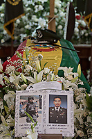 La Paz, Bolivia<br /> Wednesday November 13, 2019<br /> Funeral of Commander Heybert Antelo of the UTOP Police force who died during the riots in the Capital city of La Paz.  After the October 20 presidential elections and resignation of President Evo Morales, there is a lot of protests in many regions of Bolivia.