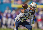 21 September 2014: San Diego Chargers cornerback Jason Verrett warms up prior to facing the Buffalo Bills at Ralph Wilson Stadium in Orchard Park, NY. The Chargers defeated the Bills 22-10 in AFC play. Mandatory Credit: Ed Wolfstein Photo *** RAW (NEF) Image File Available ***