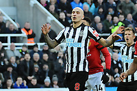 A dejected Jonjo Shelvey of Newcastle United during Newcastle United vs Manchester United, Premier League Football at St. James' Park on 11th February 2018