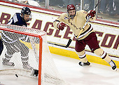 Connor Hardowa (UNH - 2), Kevin Hayes (BC - 12) - The Boston College Eagles defeated the visiting University of New Hampshire Wildcats 4-3 on Friday, January 27, 2012, in the first game of a back-to-back home and home at Kelley Rink/Conte Forum in Chestnut Hill, Massachusetts.