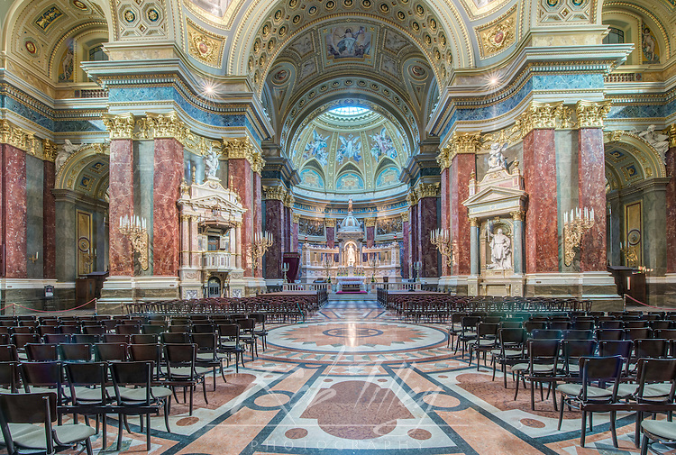 Europe, Hungary, Budapest St. Stephen's Basiclica Interior