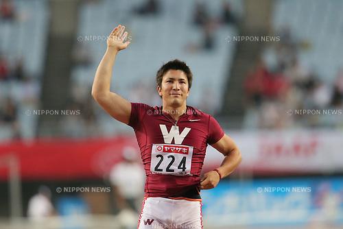 Genki Dean (JPN), .JUNE 9, 2012 - Athletics : The 96th Japan Athletics National Championships Osaka 2012, Men's Javelin Throw final .at Nagai Stadium, Osaka, Japan. (Photo by Akihiro Sugimoto/AFLO SPORT) [1080]