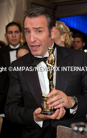 .JEAN DUJARDIN..Winner of the award for BEST ACTOR attends the Govenors Ball at the 84th Academy Awards held at Kodak Theatre, Hollywood & Highland Center®, Los Angeles, February 26, 2012,.MANDATORY PHOTO CREDIT: ©Ampas/NEWSPIX INTERNATIONAL..(Failure to by-line the photograph will result in an additional 100% reproduction fee surcharge. You must agree not to alter the images or change their original content)..            *** ALL FEES PAYABLE TO: NEWSPIX INTERNATIONAL ***..IMMEDIATE CONFIRMATION OF USAGE REQUIRED:Tel:+441279 324672..Newspix International, 31 Chinnery Hill, Bishop's Stortford, ENGLAND CM23 3PS.Tel: +441279 324672.Fax: +441279 656877.Mobile: +447775681153.e-mail: info@newspixinternational.co.uk