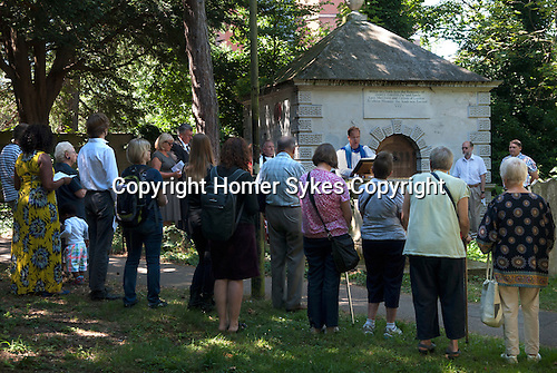 Inspection of the Gibson Mausoleum, St Nicholas&rsquo; Church  Sutton Surrey 2016. Mary Gibson died 10 October 1793 aged 64. In her last Will she bequest to the Minister and Churchwardens &pound;500-00 at 3% consolidated Bank Annuities on trust to be applied amongst other ways as follows. &pound;5-00 to the Minister forever for preaching a sermon on the 12 August.  &pound;5-00 to be distributed that day by the Churchwardens to the poor. &pound;4-00 to be divided between the Churchwardens on that day in every year for surveying and examining the Gibsons family vault.  <br /> <br /> The bequest has now been amalgamated with other bequests  left to the church, the revenues being used in the community.