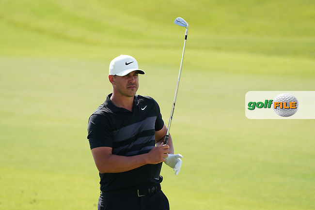 Brooks Koepka (USA) on the 9th during Round 4 of the Saudi International at the Royal Greens Golf and Country Club, King Abdullah Economic City, Saudi Arabia. 02/02/2020<br /> Picture: Golffile | Thos Caffrey<br /> <br /> <br /> All photo usage must carry mandatory copyright credit (© Golffile | Thos Caffrey)