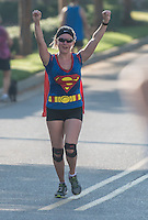 NWA Democrat-Gazette/ANTHONY REYES &bull; @NWATONYR<br /> Participants Monday, Sept. 7, 2015 at the 12th Annual Run for a Child's Hunger race at the Promenade in Rogers. The race has teamed up with Care Community Center to help fight hunger in the region. The event featured multiple activities including a 10K race, 5K race, fun run, inflatable playground for children and a free breakfast.