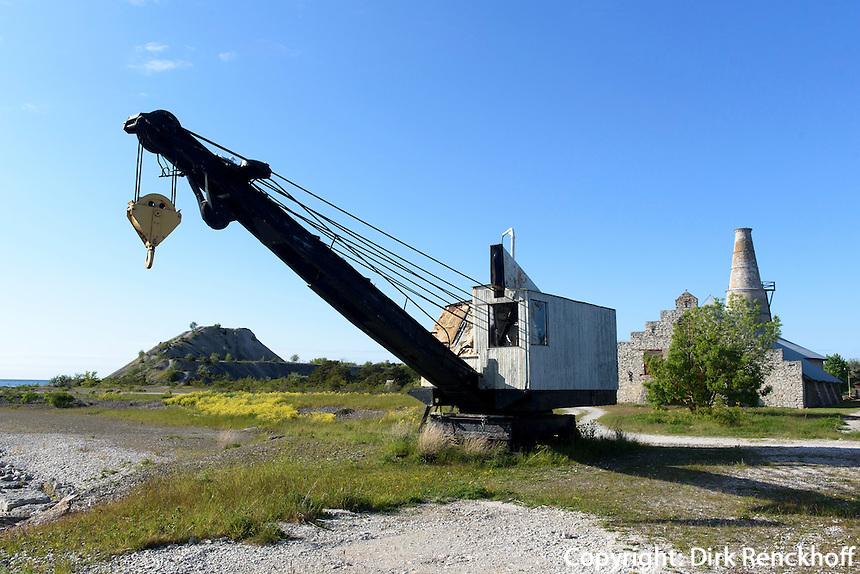 ehemalige Kalkfabrik in Bl&auml;se auf der Insel Gotland, Schweden, Europa<br /> former limestone factory in Bl&auml;se, Isle of Gotland, Sweden