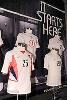 Classic US Soccer jerseys on display during day one of the US Soccer Development Academy  Spring Showcase in Sarasota, FL, on May 22, 2009.
