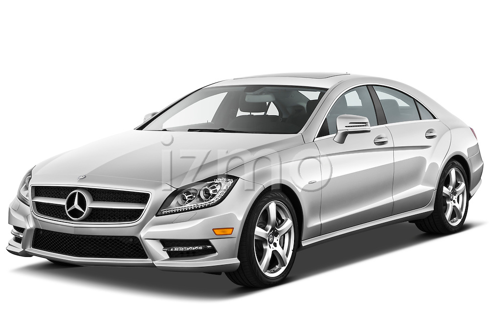 Front three quarter view of a 2012 Mercedes CLS Class .
