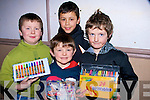 YOUNG: Young artists who painted their way in the Rock Street/Caherslee Community Games Art Competition in Balloonagh School on Friday l-r: Thomas O'Connor, Louis Ryle, Luke Chester and James Rusk..................