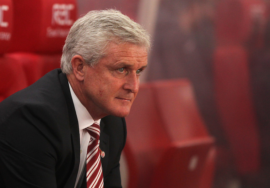 Stoke City's Manager Mark Hughes<br /> <br /> Photographer Mick Walker/CameraSport<br /> <br /> The Premier League - Stoke City v Swansea City - Monday 31st October 2016 -  bet365 Stadium - Stoke-on-Trent<br /> <br /> World Copyright &copy; 2016 CameraSport. All rights reserved. 43 Linden Ave. Countesthorpe. Leicester. England. LE8 5PG - Tel: +44 (0) 116 277 4147 - admin@camerasport.com - www.camerasport.com