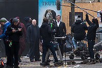 Matt Lucas and Peter Capaldi are spotted as Doctor Who films on Mount Stuart Square in Cardiff Bay, Wales, UK. Sunday 05 February 2017
