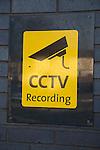 Sign CCTV camera recording