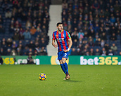 2nd December 2017, The Hawthorns, West Bromwich, England; EPL Premier League football, West Bromwich Albion versus Crystal Palace; Joel Ward of Crystal Palace on the ball looking for a pass