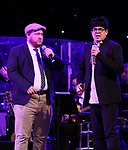 Jason SweetTooth Williams and George Salazar on stage at the Dramatists Guild Foundation 2018 dgf: gala at the Manhattan Center Ballroom on November 12, 2018 in New York City.