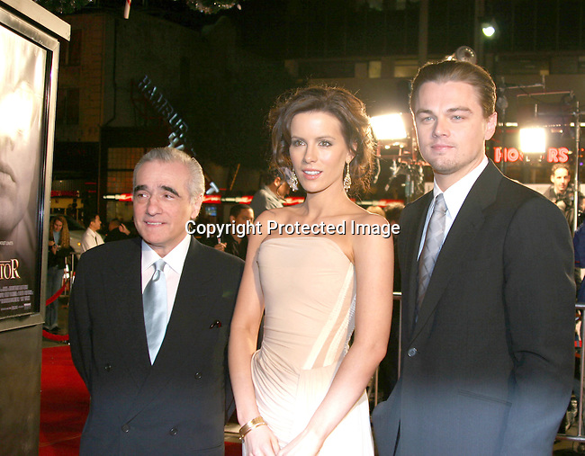 Martin Scorsese,  Kate Beckinsale &amp; Leonardo DiCaprio<br />&quot;The Aviator&quot; Premiere - Arrivals<br />Grauman's Chinese Theatre<br />Hollywood, CA, USA<br />Wednesday, December 1, 2004<br />Photo By Selma Fonseca /Celebrityvibe.com/Photovibe.com, <br />New York, USA, Phone 212 410 <br />5354, email:sales@celebrityvibe.com