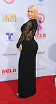 PASADENA, CA - SEPTEMBER 16: Christina Aguilera arrives at the 2012 NCLR ALMA Awards at Pasadena Civic Auditorium on September 16, 2012 in Pasadena, California.