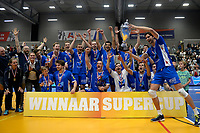 GRONINGEN - Volleybal, Abiant Lycurgus - Orion, Martiniplaza, Supercup , seizoen 2017-2018, 01-10-2017,  Lycurgus wint supercup