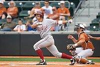 Stanford shortstop Kenny Diekroeger (3) watches a fly ball against the Texas Longhorns on March 4th, 2011 at UFCU Disch-Falk Field in Austin, Texas.  (Photo by Andrew Woolley / Four Seam Images)