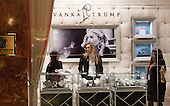 Lara Yunaska, C, Eric Trump's wife, in the Ivanka Trump boutique at Trump Tower on January 17, 2017 in New York City. U.S. President Elect Donald Trump is still holding meetings upstairs at Trump Tower just 3 days before the inauguration.   <br /> Credit: Bryan R. Smith / Pool via CNP