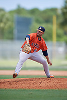 GCL Astros pitcher Julio Robaina (41) during a Gulf Coast League game against the GCL Marlins on August 8, 2019 at the Roger Dean Chevrolet Stadium Complex in Jupiter, Florida.  GCL Marlins defeated GCL Astros 5-4.  (Mike Janes/Four Seam Images)