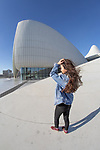 Girl Posing, Heydar Aliyev Center