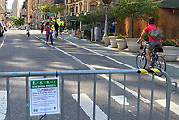 """NEW YORK, NY-. - MAY 17: Streets in the Flatiron District Closed to traffic under """"Open Streets"""" program to facilitate social distancing during the coronavirus pandemic in New York City on May 17, 2020. <br /> CAP/MPI/RMP<br /> ©RMP/MPI/Capital Pictures"""