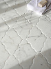 Djinn Grand, a handmade mosaic shown in honed Calacatta Tia with a Venetian finish, is part of The Studio Line of Ready to Ship mosaics. All mosaics in this collection are ready to ship within 48 hours. <br />