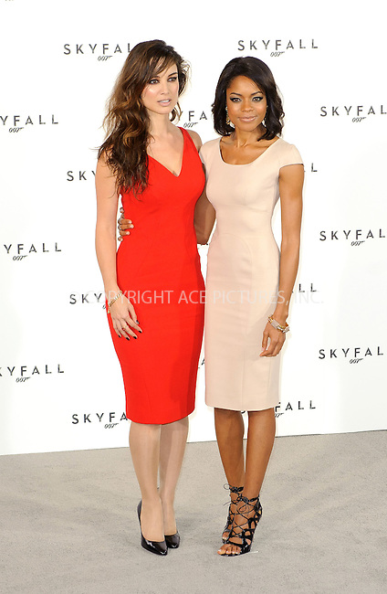 WWW.ACEPIXS.COM . . . . .  ..... . . . . US SALES ONLY . . . . .....November 3 2011, London....Berenice Marlohe and Naomie Harris at the launch of 'Skyfall', the 23rd James Bond movie on November 3 2011 in London....Please byline: FAMOUS-ACE PICTURES... . . . .  ....Ace Pictures, Inc:  ..Tel: (212) 243-8787..e-mail: info@acepixs.com..web: http://www.acepixs.com