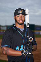 Akron RubberDucks Bobby Bradley (44) poses for a photo before a game against the Binghamton Rumble Ponies on May 12, 2017 at NYSEG Stadium in Binghamton, New York.  Akron defeated Binghamton 5-1.  (Mike Janes/Four Seam Images)