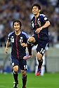 (R-L) Shinji Kagawa, Ryoichi Maeda (JPN),.JUNE 8, 2012 - Football / Soccer :.Shinji Kagawa of Japan celebrates with his teammate Ryoichi Maeda after scoring their fourth goal during the 2014 FIFA World Cup Asian Qualifiers Final round Group B match between Japan 6-0 Jordan at Saitama Stadium 2002 in Saitama, Japan. (Photo by Jinten Sawada/AFLO)