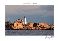 Sunrise at Gustavsvärn lighthouse surrounded by its fortification ruins -Hanko, Finland