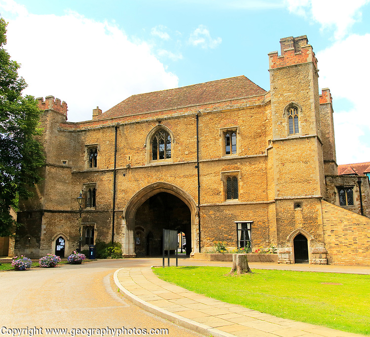 The Porta Gate building, King's College school, Ely, Cambridgeshire, England, UK