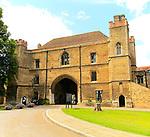 The Porta Gate building, King's College school, Ely, Cambridgeshire, England, UK