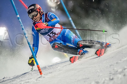 8th February 2019, Are, Sweden; Alpine skiing: Combination, ladies: Federica Brignone from Italy on the slalom course.