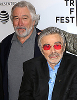 www.acepixs.com<br /> <br /> April 22 2017, New York City<br /> <br /> Actors Robert De Niro (L) and Burt Reynolds arriving at a screening of 'Dog Years' during the 2017 Tribeca Film Festival the at Cinepolis Chelsea on April 22, 2017 in New York City.<br /> <br /> By Line: Nancy Rivera/ACE Pictures<br /> <br /> <br /> ACE Pictures Inc<br /> Tel: 6467670430<br /> Email: info@acepixs.com<br /> www.acepixs.com