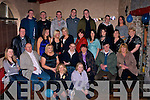 21ST: On Friday night in the Greyhound bar, Tralee John Patton (3rd generation), Abbeydorney celebrated his 21st Birthday with family and friends. John is seated centre..................